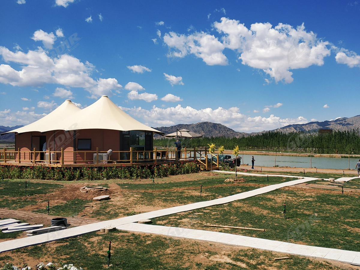Multi-Functional Green Hotel Architecture & Eco Glamping Resort Tent - Gansu, China