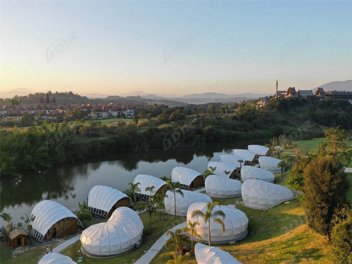 Outdoor Hotel Tent, Wild Luxury Resort Tented Cabins - Yunnan, China