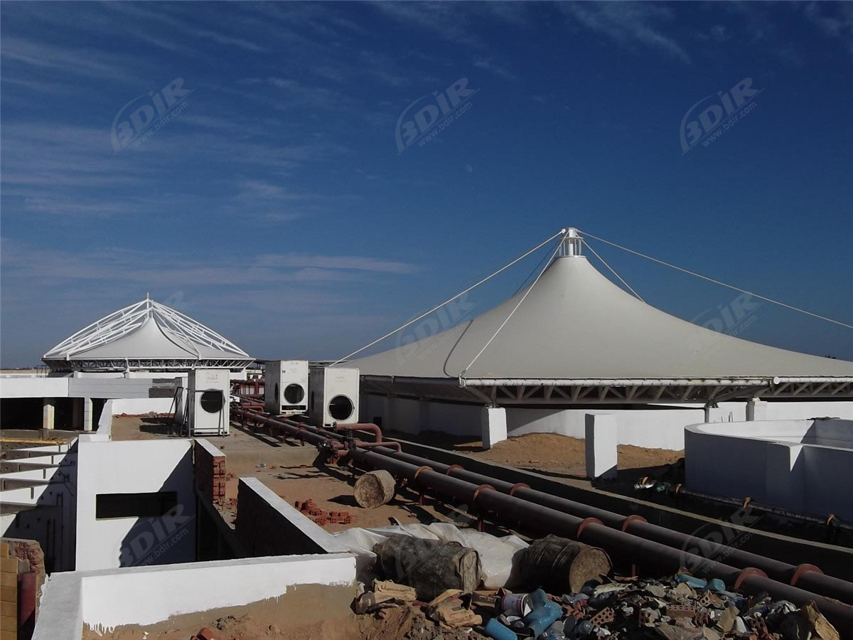 PTFE Textile Membrane Structure Commercial Roof in Sharm el-Shiekh, Egypt