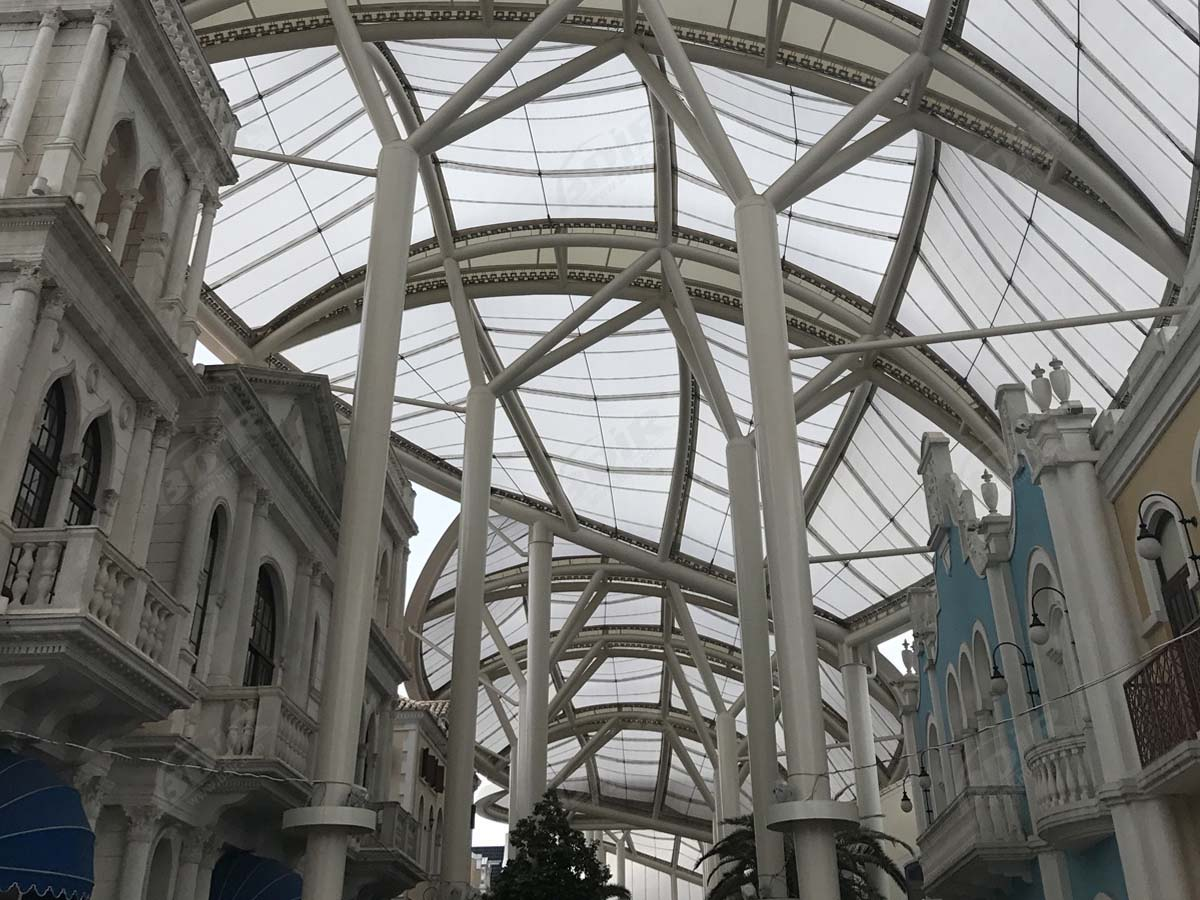 PTFE Membrane Material Tensile Structure for Commercial Center, Macau Fisherman's Wharf