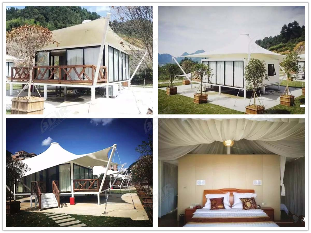 PVDF Fabric Roofing Tent House for Luxury Camping Resort Accommodation - Chongqing, China