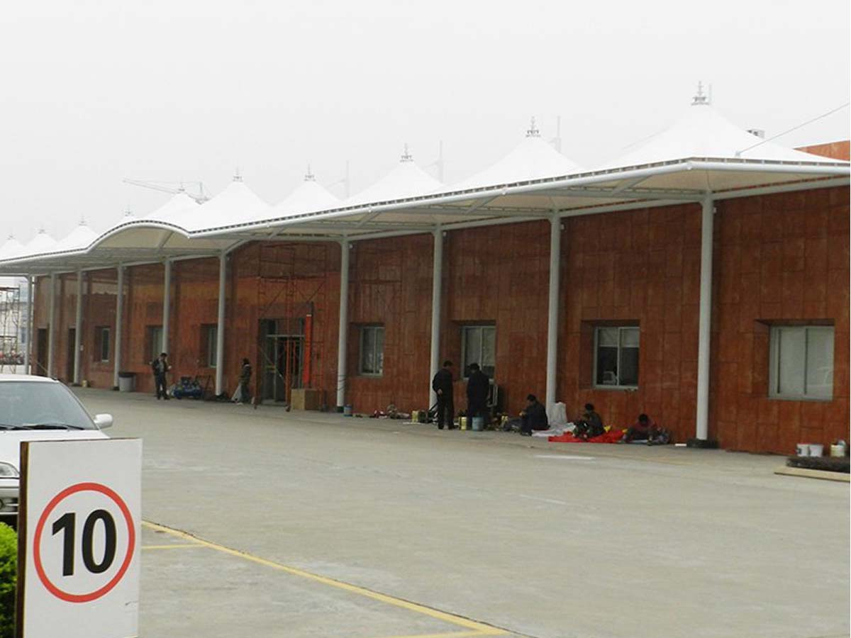 PVDF Fabric Tensile Structure for Midea Group Warehouse Entrance - Shunde, China