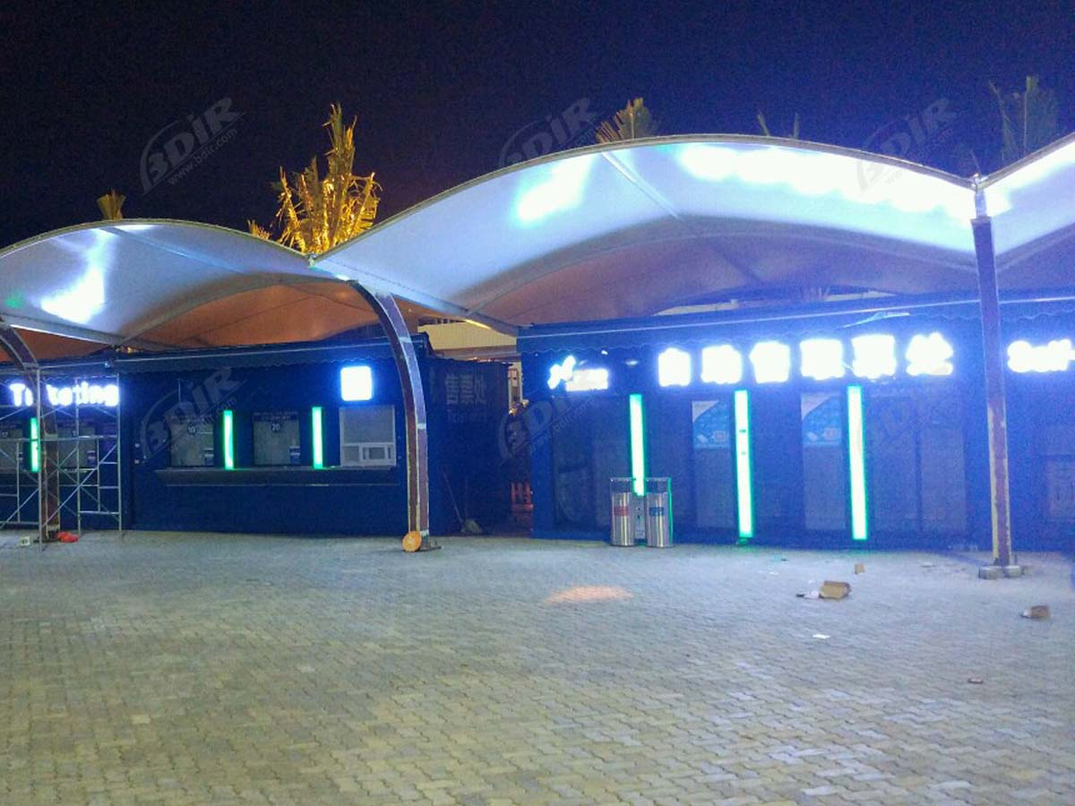 PVDF Membrane Material Tensile Structure for Booking Hall - Sanya, China