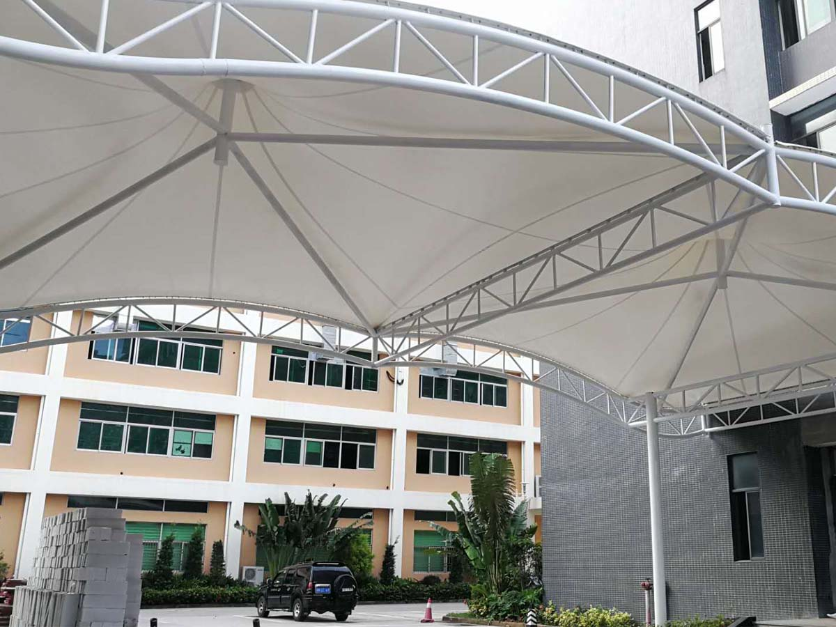 Qunyao Industrial Walkway Covering & Entrance Tensile Structure - Shenzhen, China