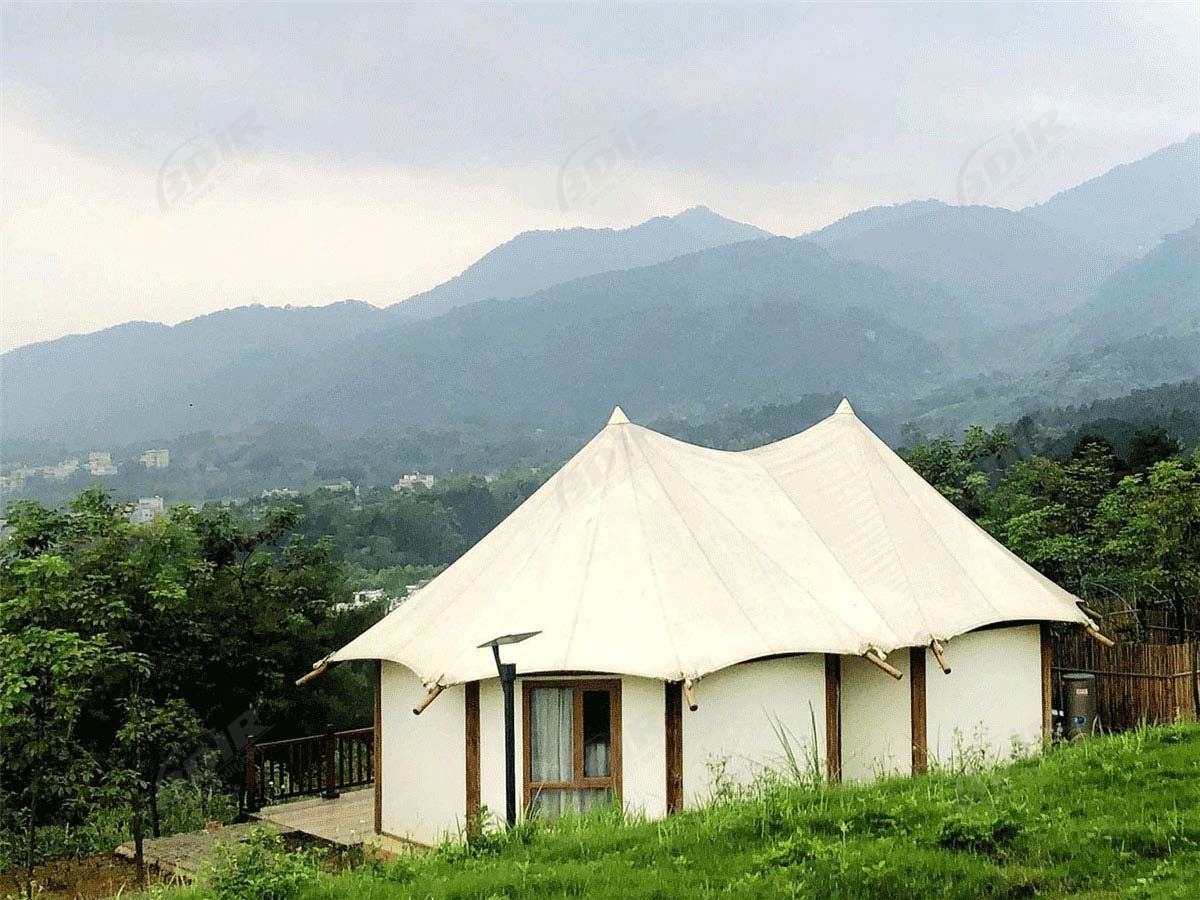 RV Camping Site with Geodesic Dome Cabins  & Eco Tent Structure Villas - Guangxi