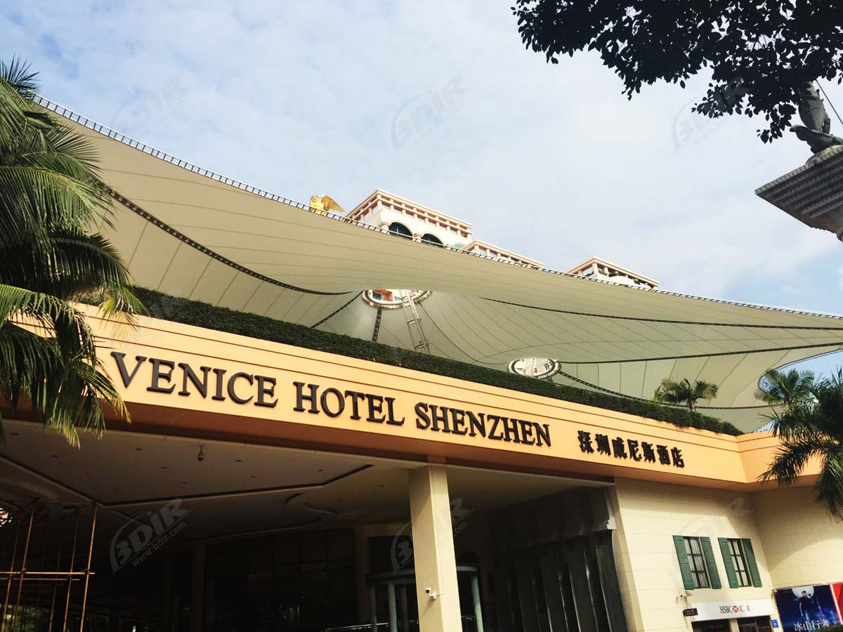 Venice International Hotel Tensile Fabric Roof Structure, Swimming Pool Shade Sails - Shenzhen, China