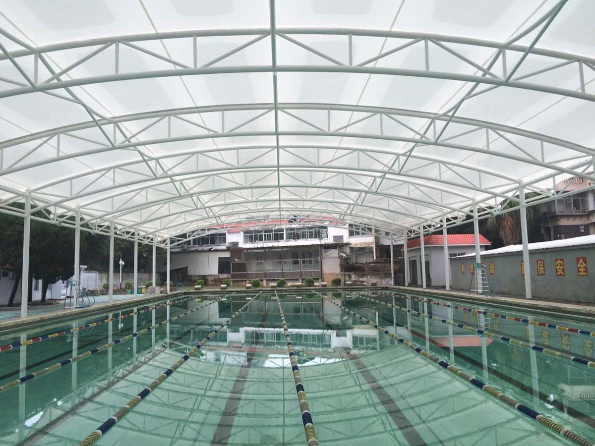 Submarine Force Swimming Pool Shade Sails Fabric Tensile Structure - Ningbo, China