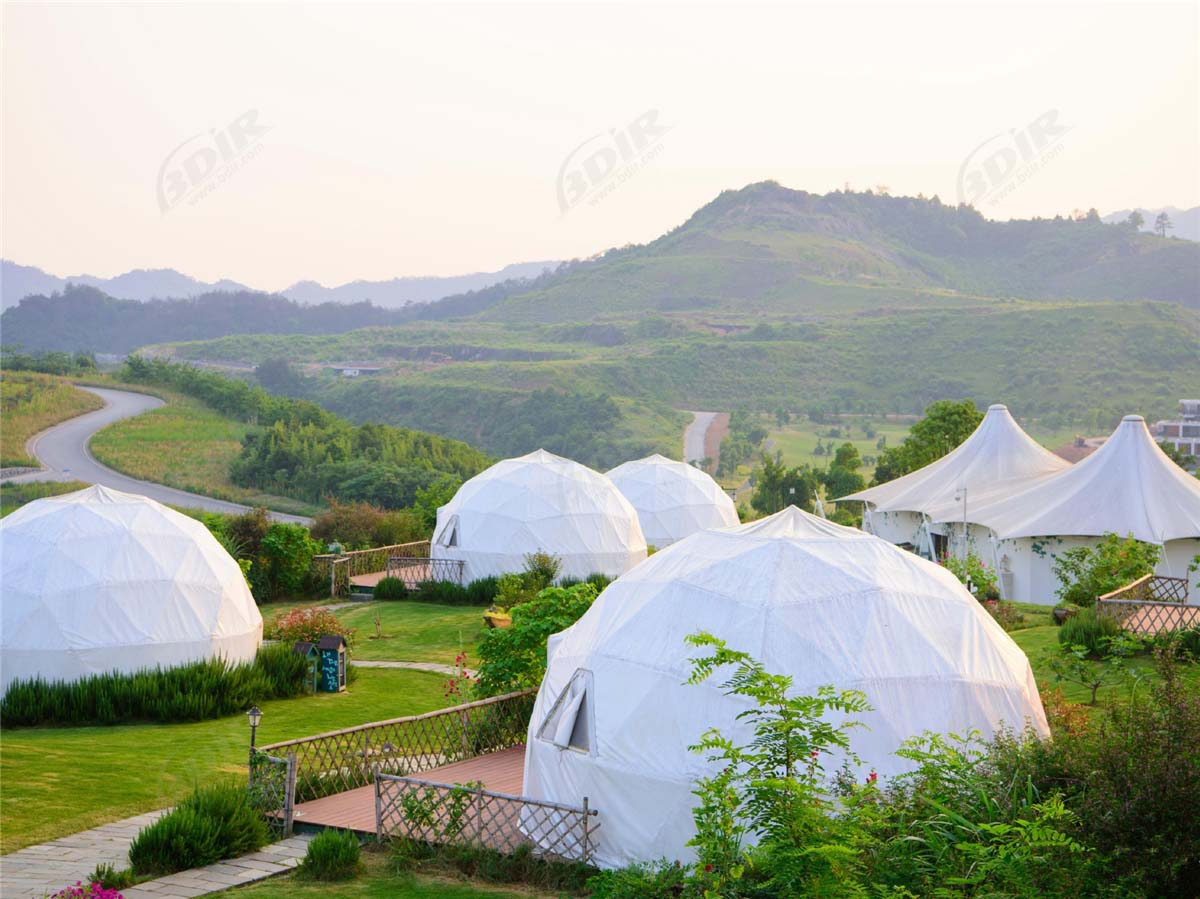 Sustainable Wild Luxury Dome Tent Hotel for Qiandao Lake Resort