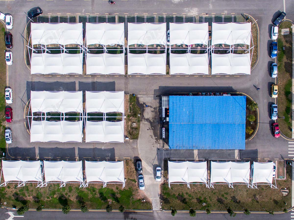Tensile Parking Structures for Large Parking Lots - Guiyang Cigarette Factory