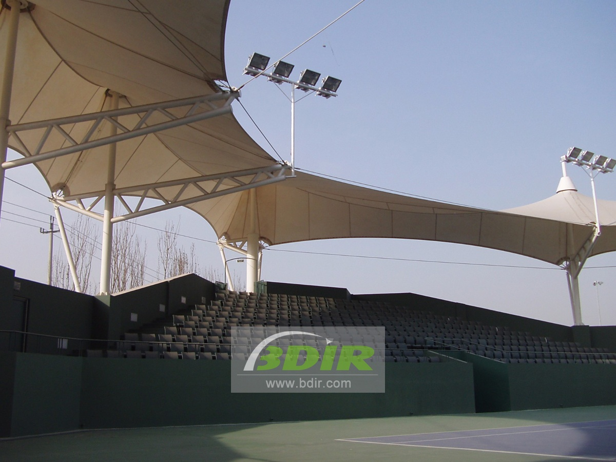 Tensile Structures for Gymnasium, Soccer Football Stadium, Sports Center