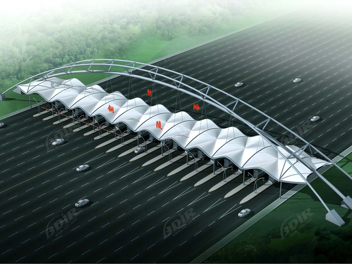Tensile Structures for Highways Toll Plaza & Toll Station Entrance - Tongling, China