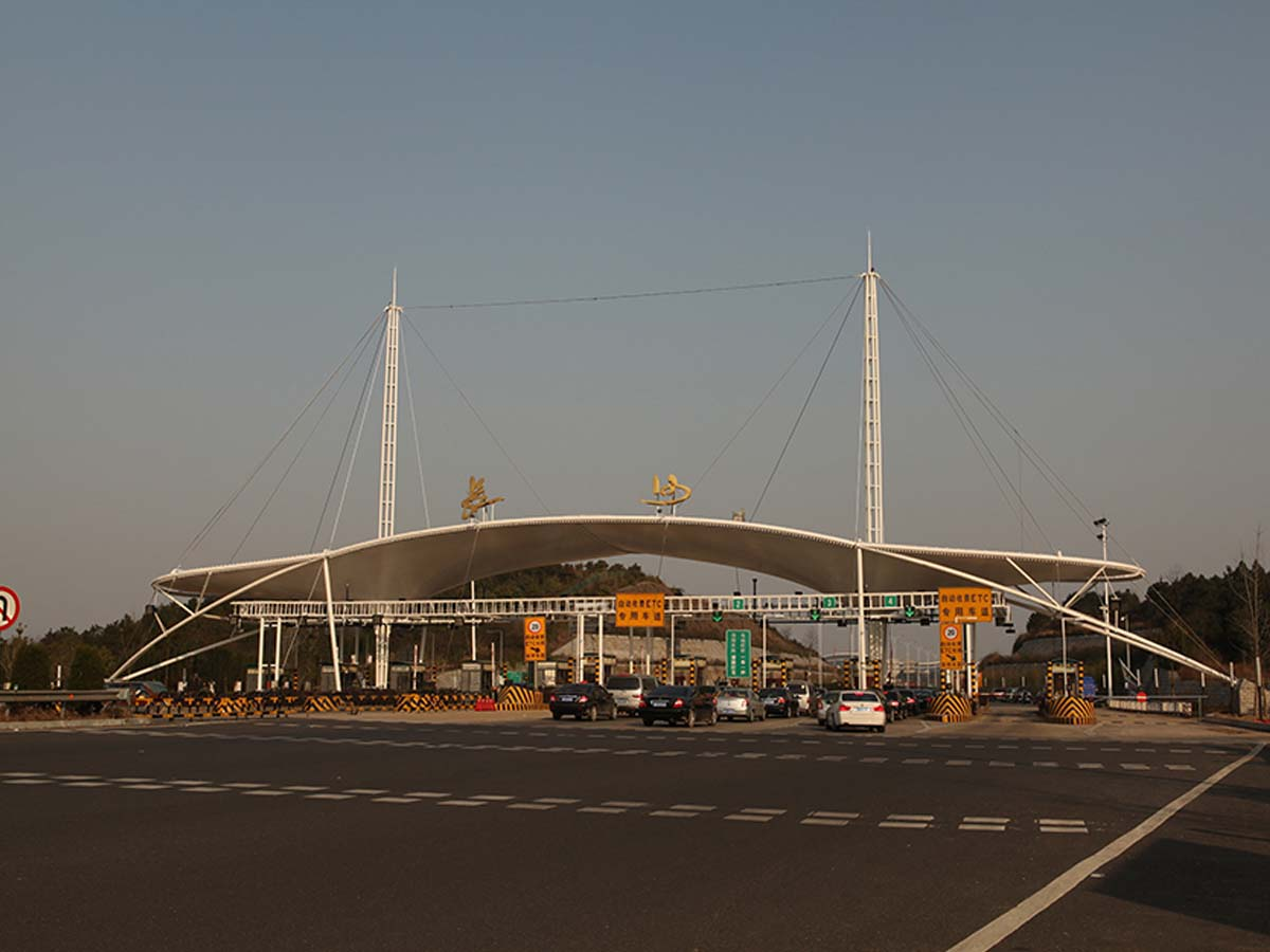Tensile Structures for Airport Highway Toll Station - Changsha, China
