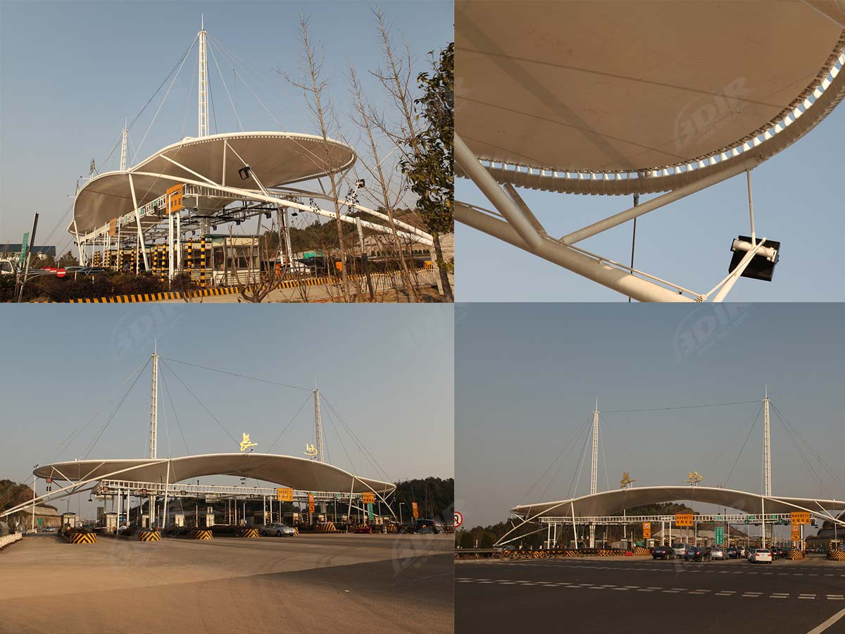 Treksterkte Structuren voor Airport Highway Tol Station - Changsha, China