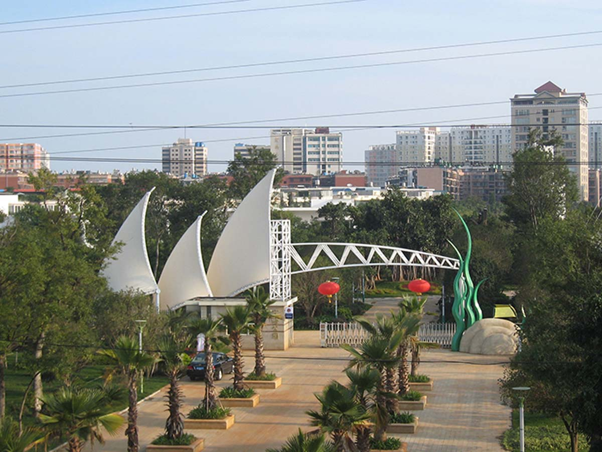 Tensile Fabric Structure - People's Square and Park - Kunming, China