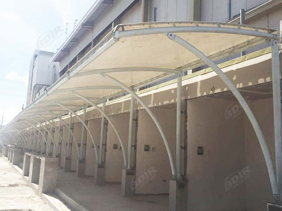Tensile Roof Structure for Commercial Plaza - Manila, Philippines