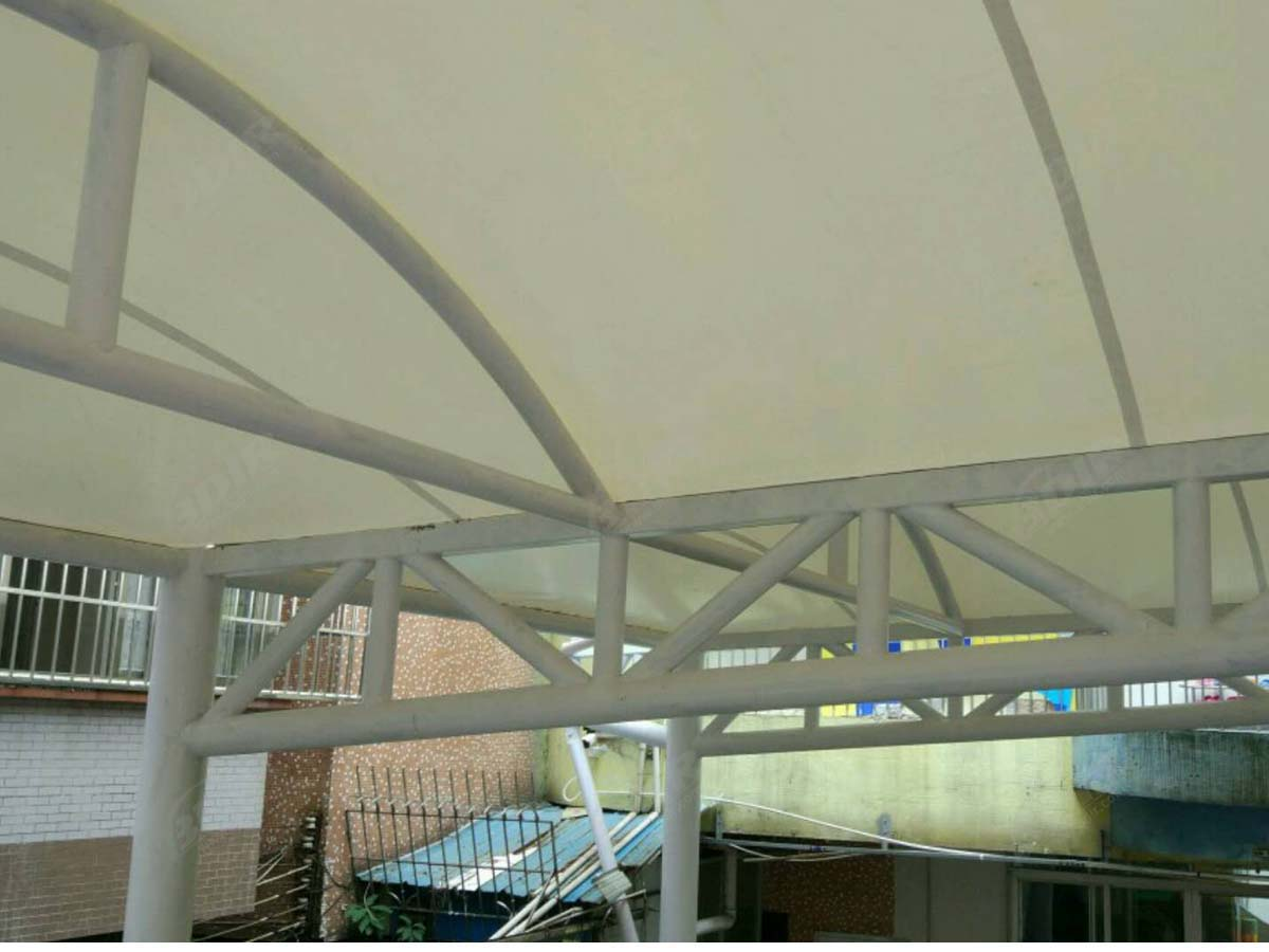 Tensile Roof Structure & Swimming Pool Shade for Kindergarten - Shanghai, China