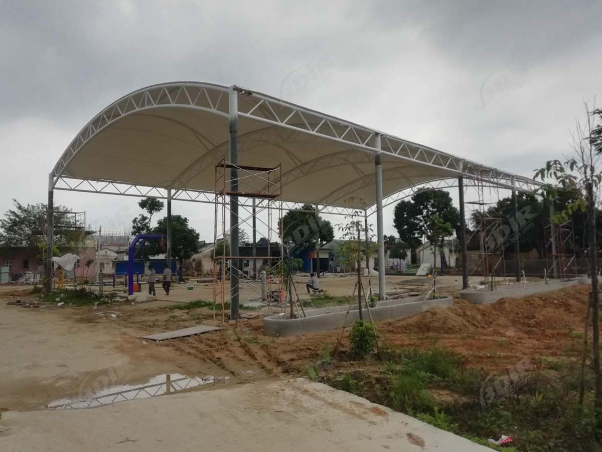 Tension Structure of Stadium And Stadium for Sunshade And Rain-Jieyang, Guangdong