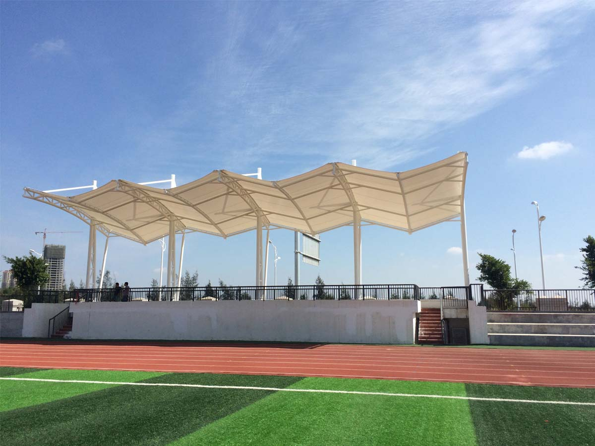 The Fifth Middle School Tensile Fabric Structure for Soccer Football Stadium - Quanzhou, China