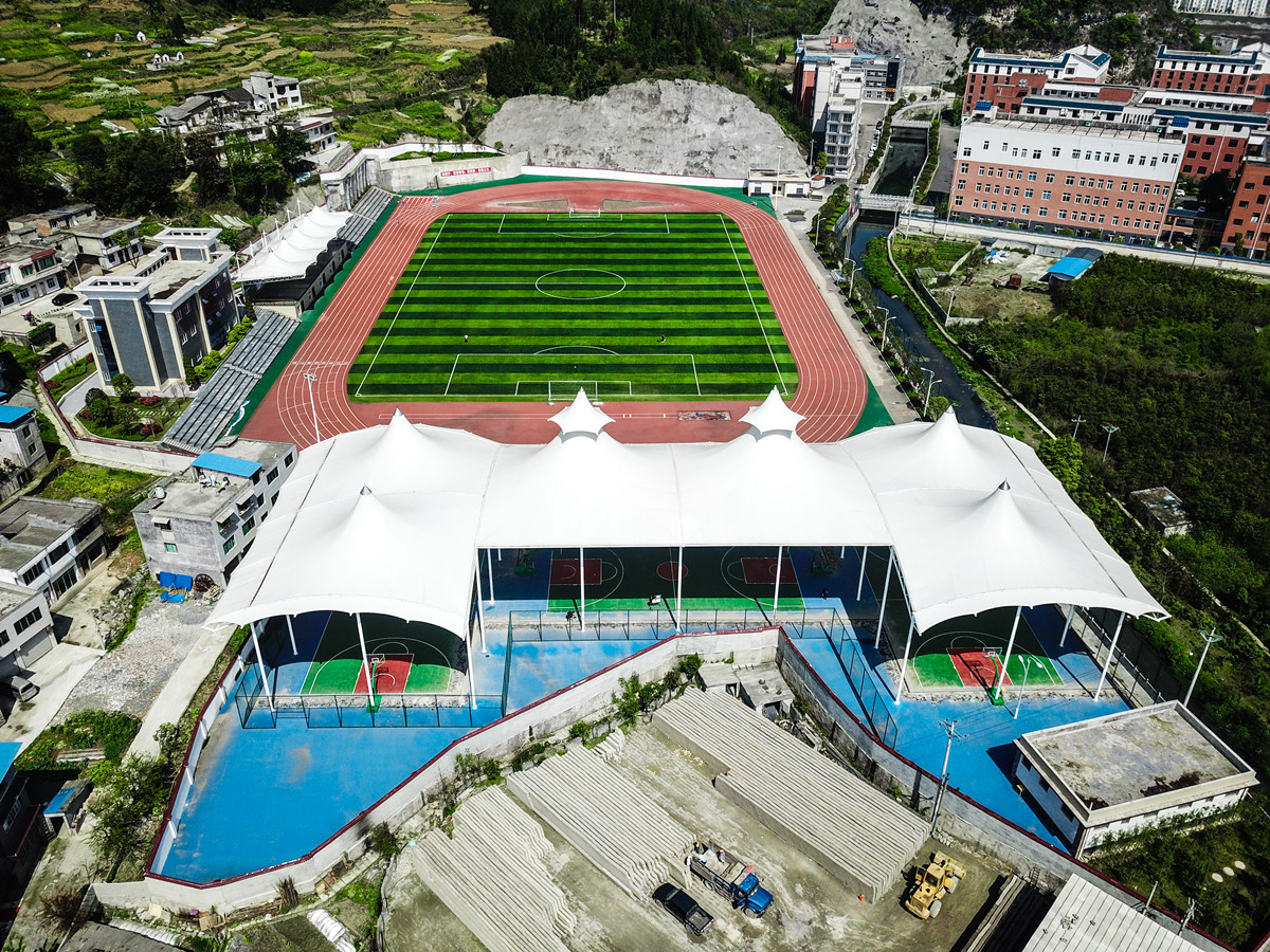 Best UV Resistance Stadium Building PVDF Roof Structure - Guizhou, China