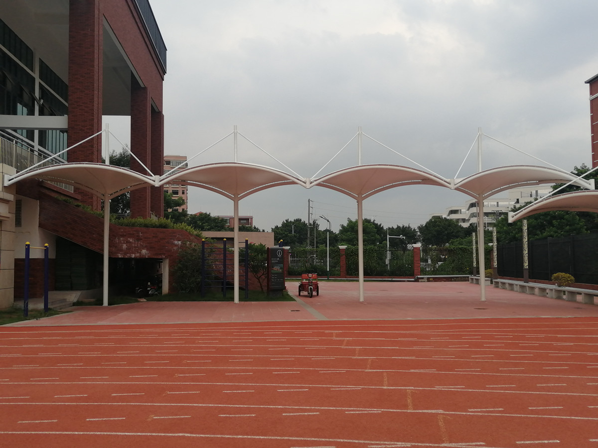 Campus Corridor Roof Fabric Fabric Covered Tension Structure & Passage Shade - Foshan, China