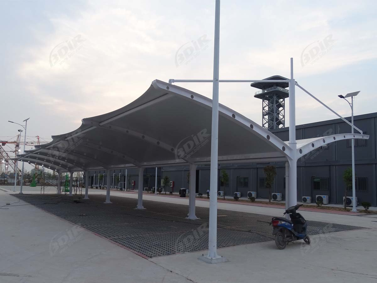 Car Parking Roof Structure for China Architecture Design and Research Institute