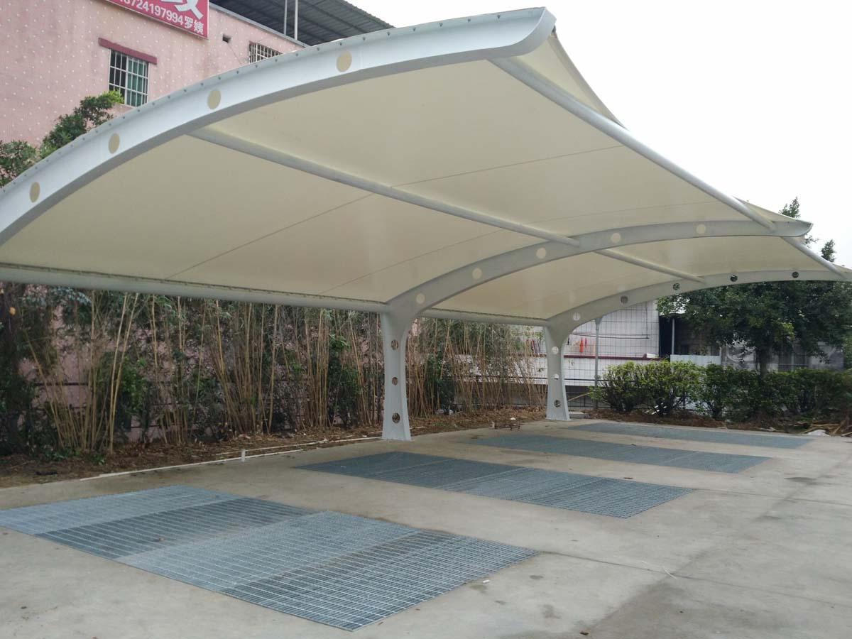 Car Parking Shades for New Splendid Restaurant & Hotel - Guangzhou, China