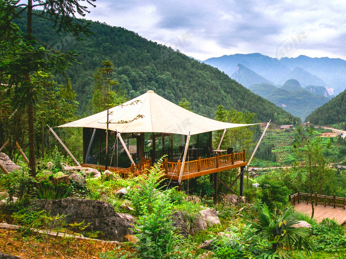 Edificio Modular Luxury Eco Hotel | Canvas Safari Cabin Tents - Sichuan, China