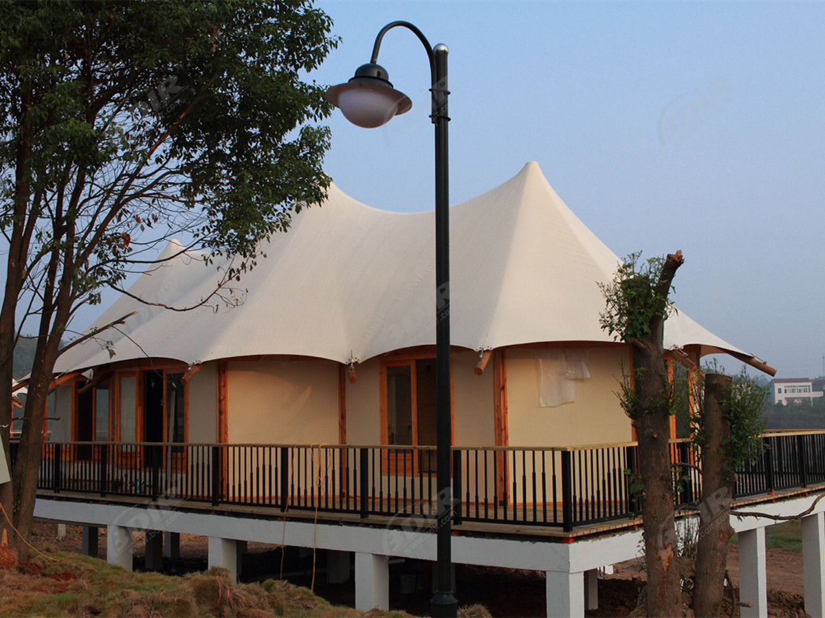 High-End Customized Eco Retreat Room | Luxury Permanent RV Tents - Hubei, China