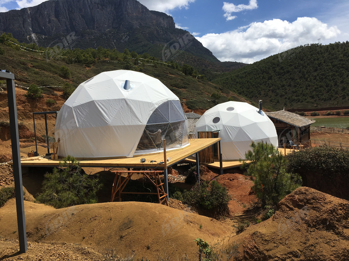 High-End Op Maat Gemaakt Glamping Canvas Koepeltentenhotel - Yunnan, China