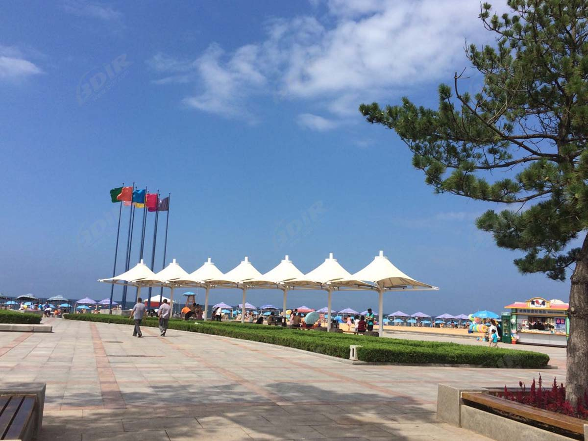 Hypar & Structure Tendue en Toile de Parapluie - Plage Internationale de Weihai