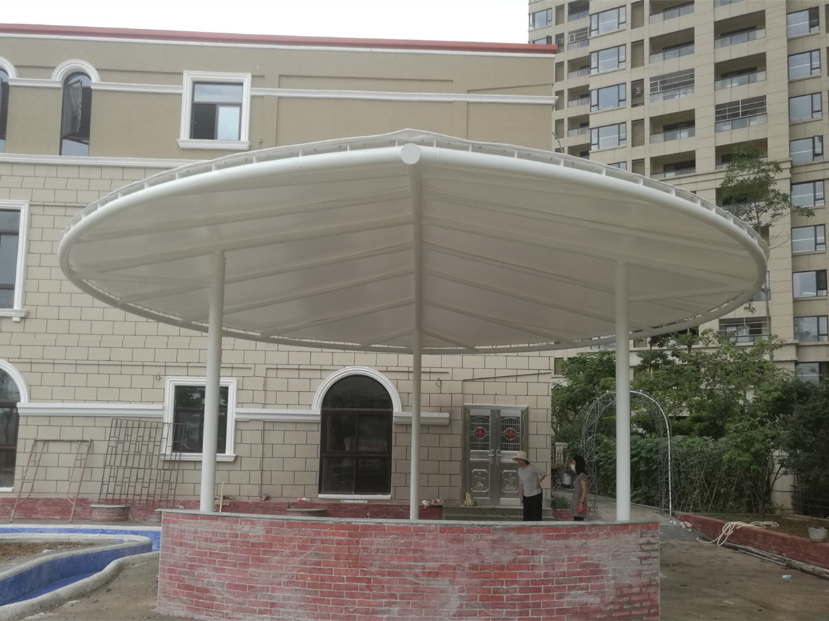 Kindergarten Leaf Tensile Structure &Custom Awning Covers-Heyuan, China