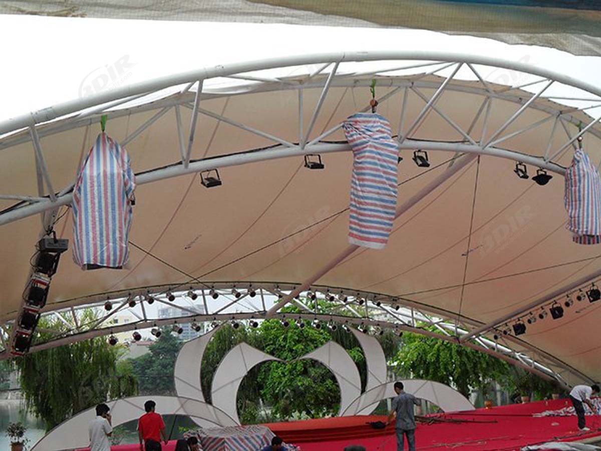 Membrane Tensile Structure for Commerce, Performance Art Stage - Hanoi, Vietnam