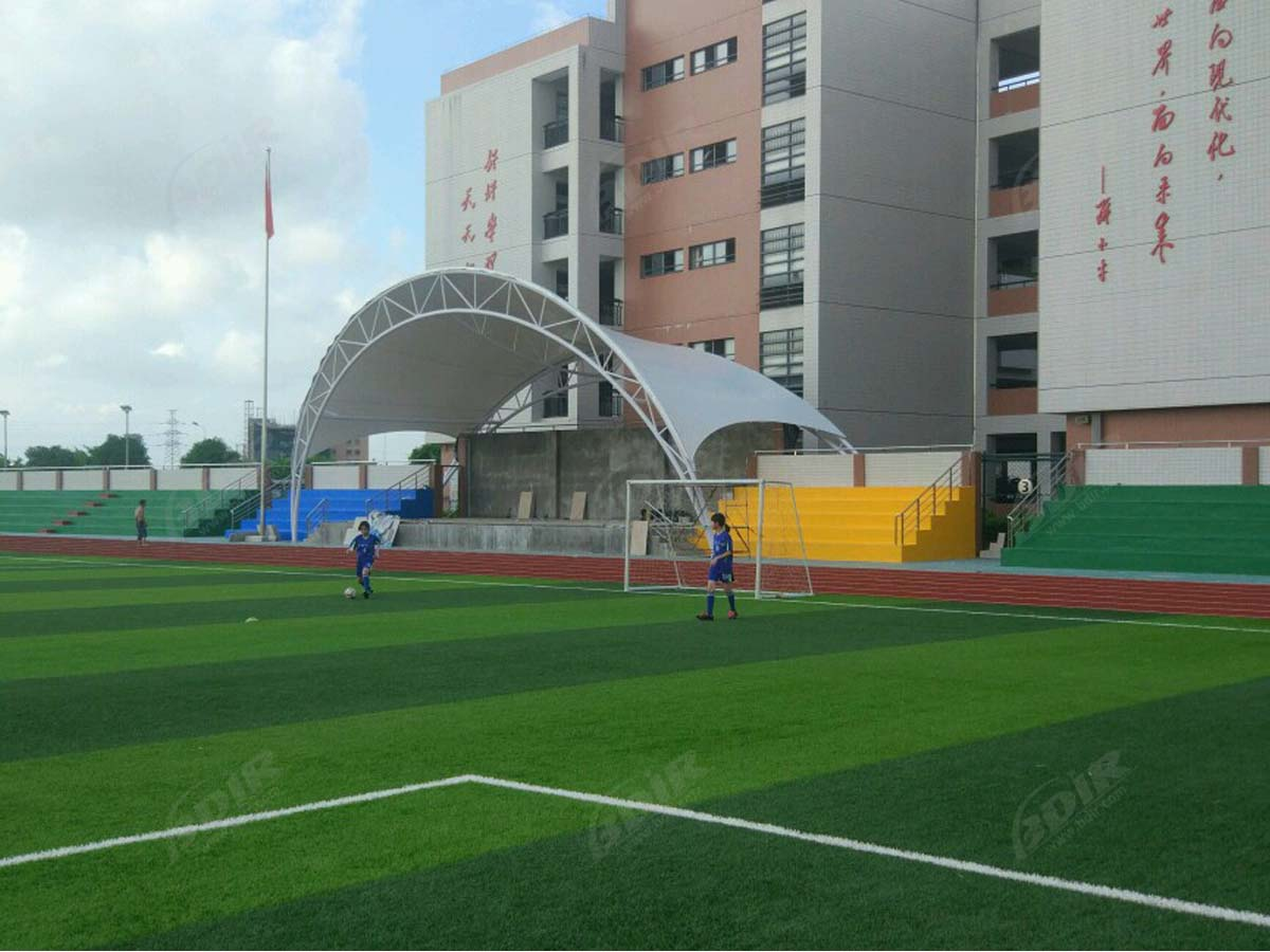 Pengou Middle School Tensile Canopy Structure - Shantou, China