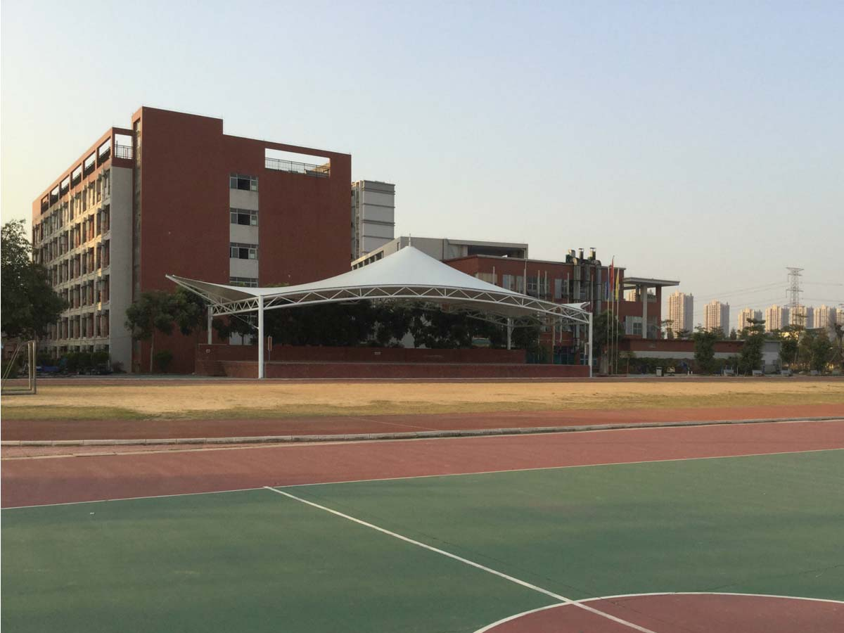Spectator Grandstands Fabric Tensile Structure - Longyan Liandong Middle School