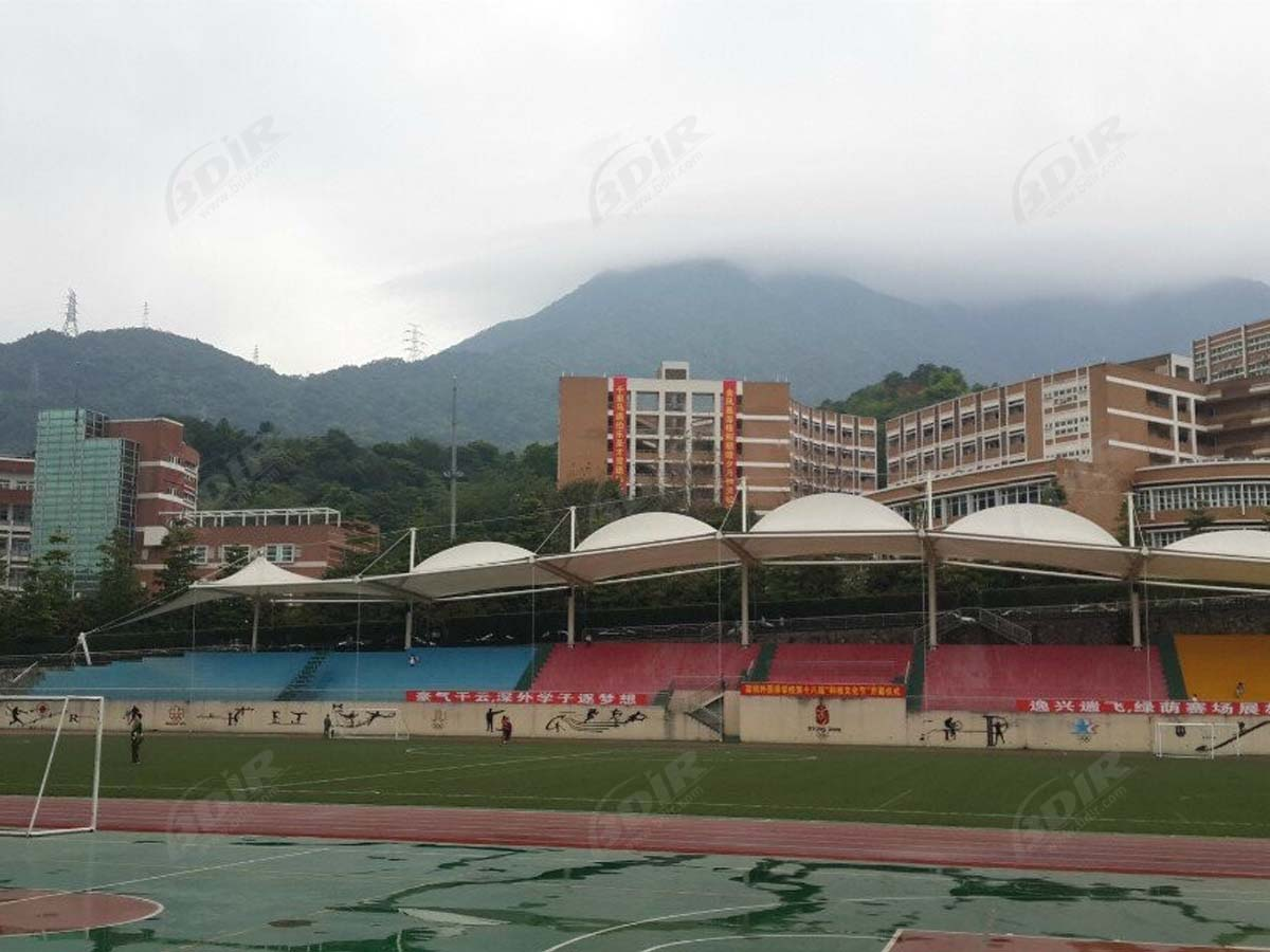 Stadium & Grandstand Tensile Structure of Shenzhen Foreign Languages School, China