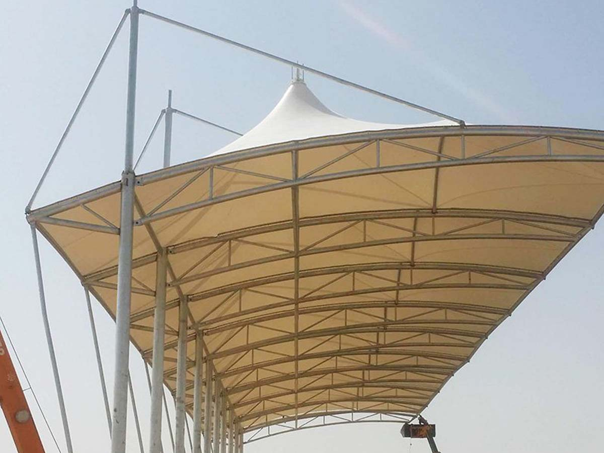 Tensile Canopy Structure for Sports Courts, Bleacher, Grandstands - Abu Dhabi