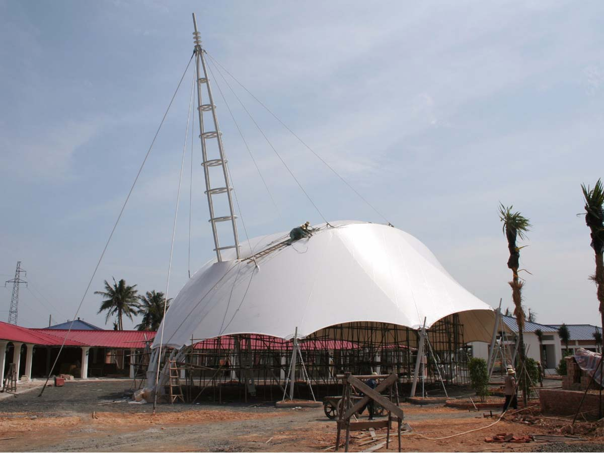 Tensile Fabric Structure for Resorts & Hotels, Events & Display Setup - Rangoon, Burma