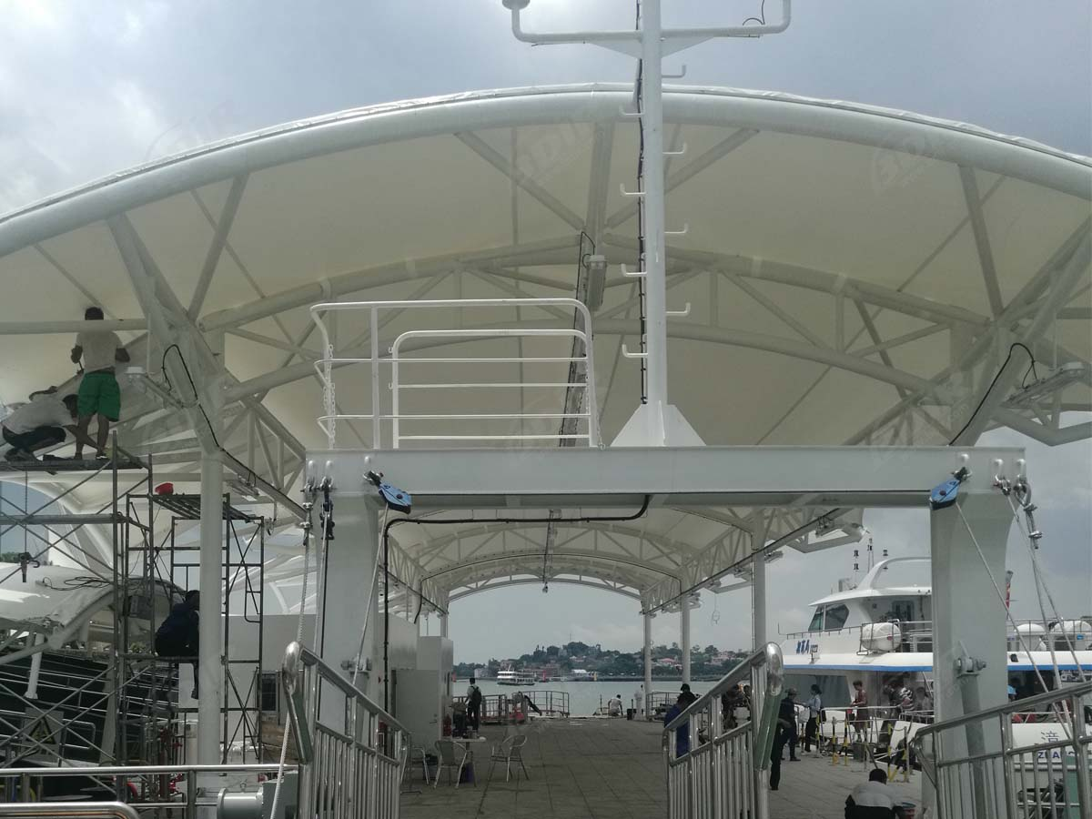 Tensile Fabric Structure for Ferry Terminal Walkway - Xiamen, China