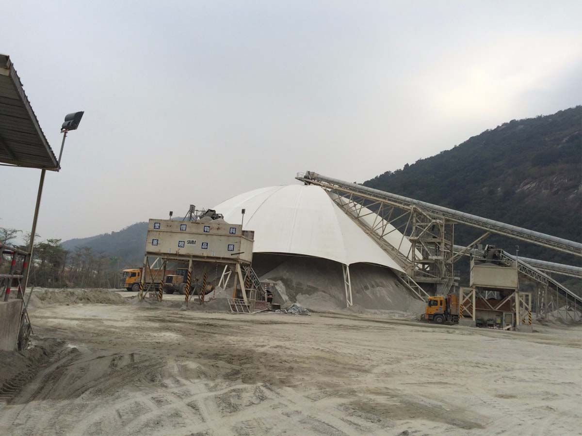 Tensile Fabric Structure for Mining Industry & Stone Pit - Huizhou, China