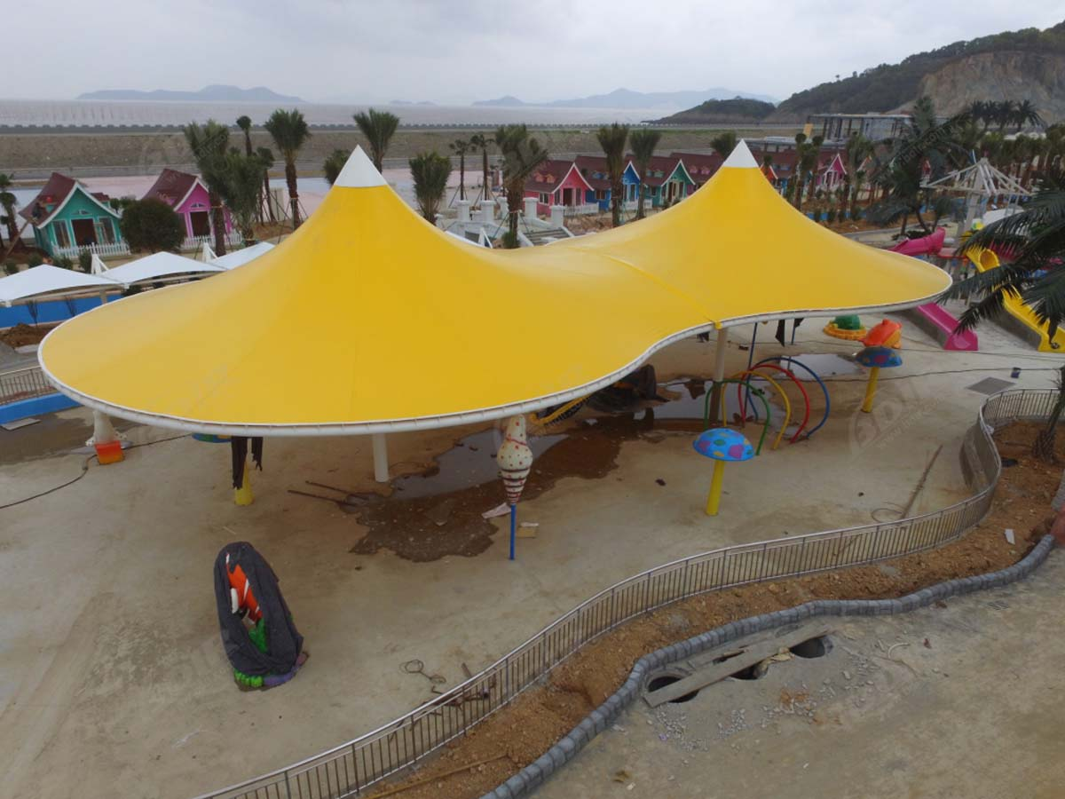 Tensile Fabric Structure for Outdoor Water Parks - Ningbo, China