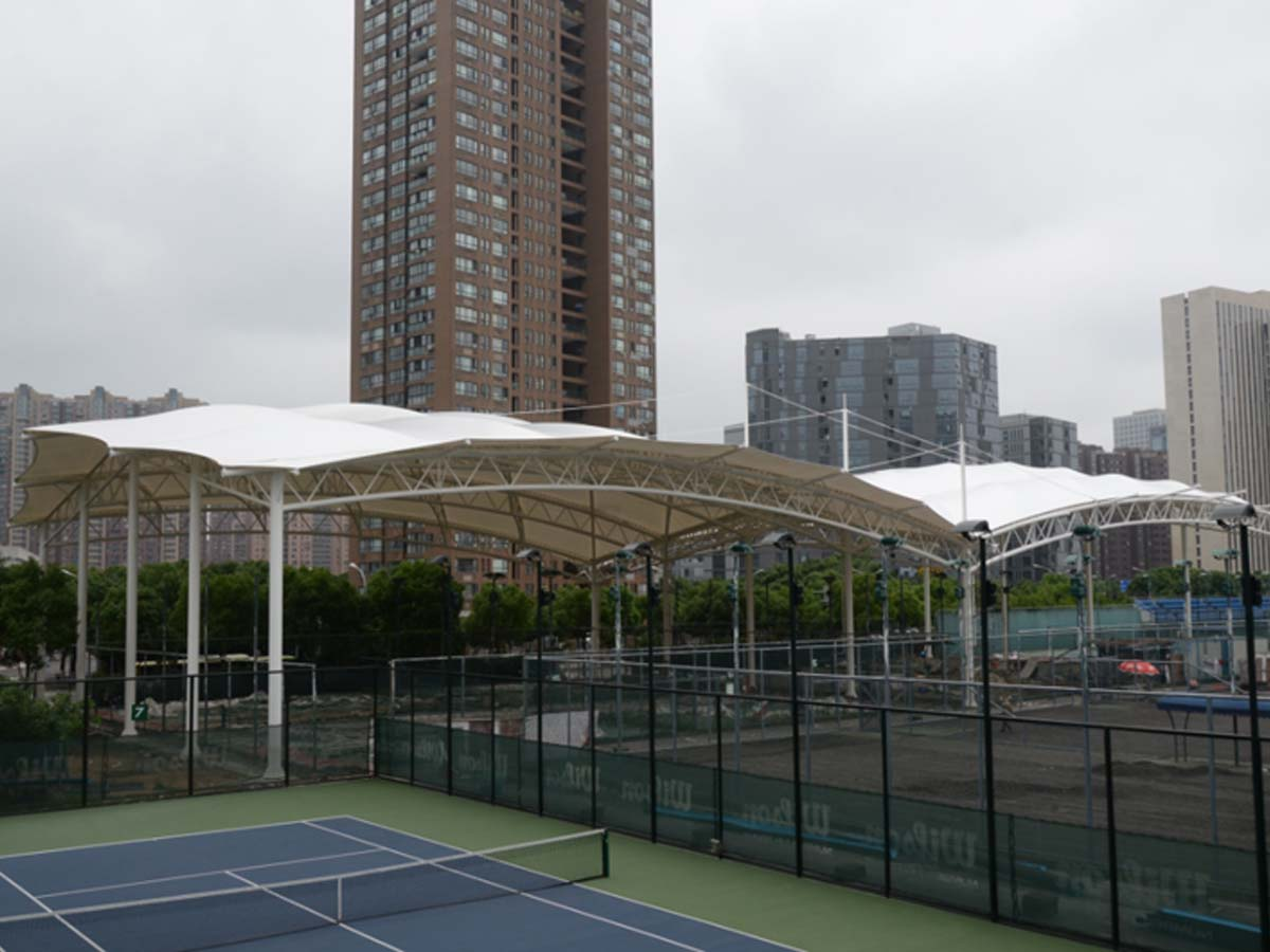 Tensile Fabric Structure for Tennis Court - Tianjin, China