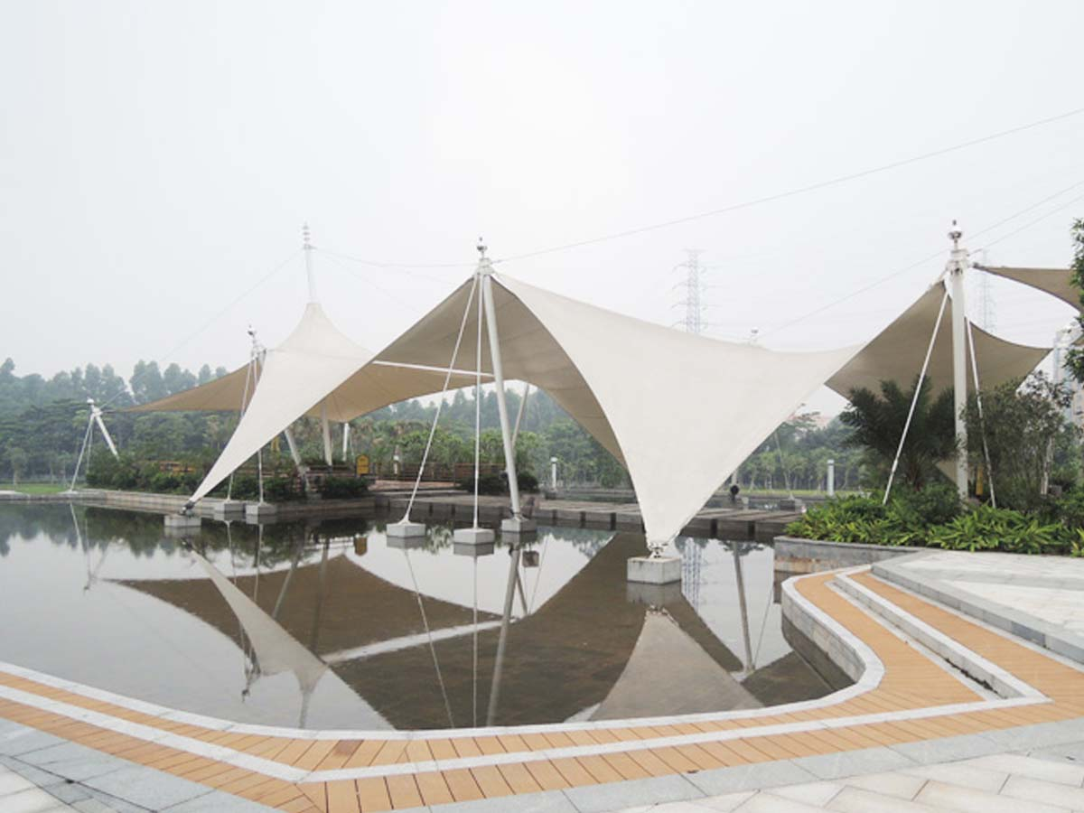 Tensile Roof Structure for Huangqi Mountain Sports Parks - Dongguan, China