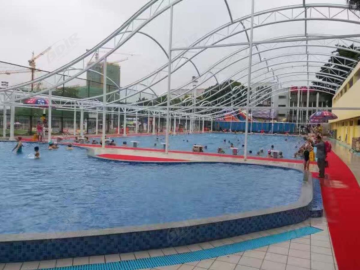 Tensile Roof Structure for Swimming Pool Shade - Guangzhou, China