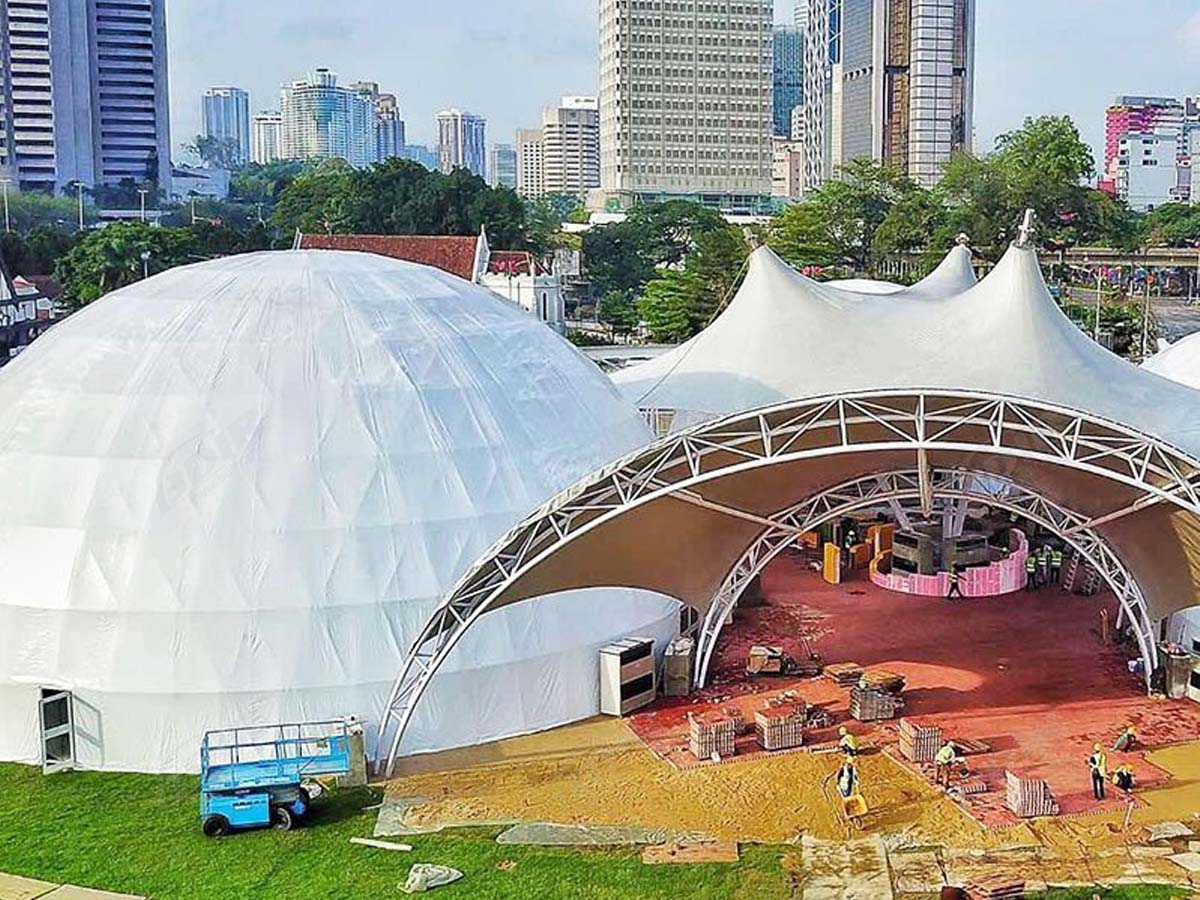 Tensile Structure & Dome Architecture for Exhibitions - Singapore