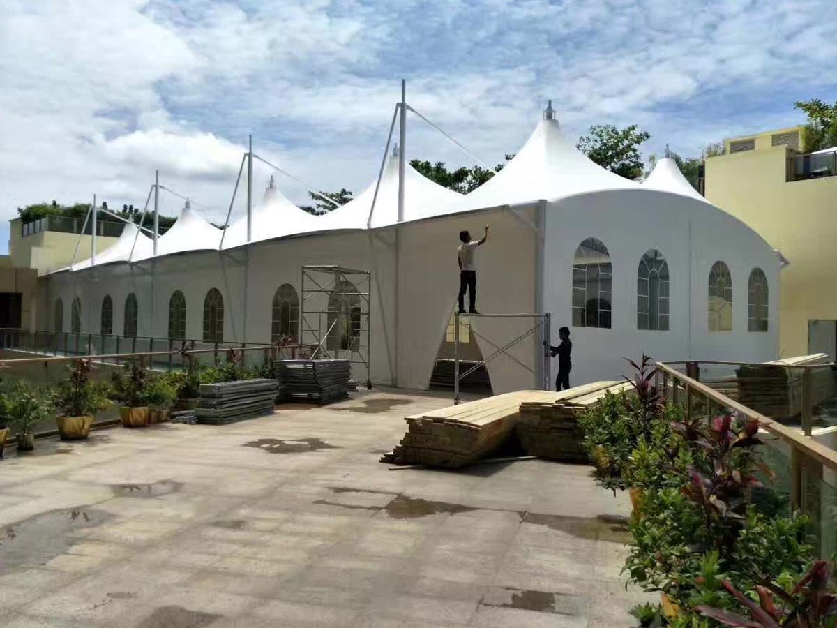PVDF Tensile Fabric Structure for Beer & Food Festival, Exhibition - Bangkok, Thailand