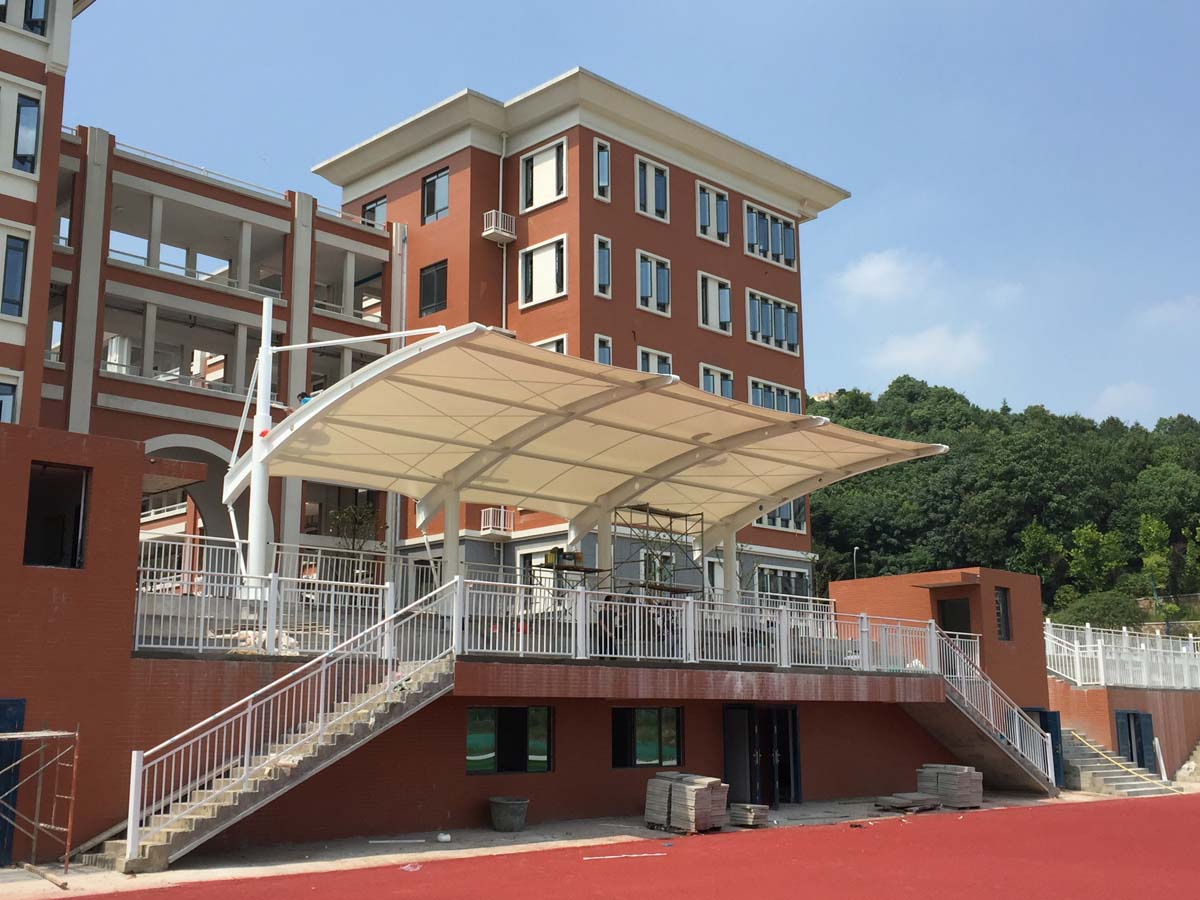 Tensile Structure for Spectator Grandstands & Auditorium - Xiamen Jimei Primary School