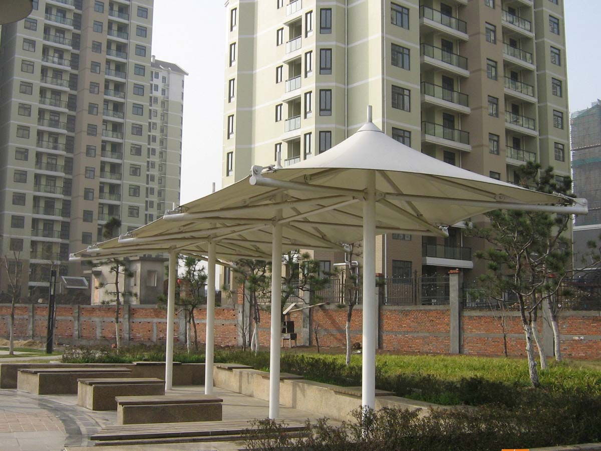 Tensile Structure & Umbrella Shade Canopy for Walkway & Coffee Shop - Hong Kong